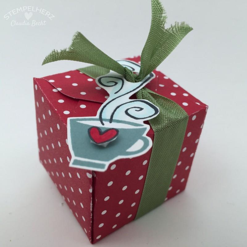 Stampin Up-Stempelherz-Verpackung-Schachtel-Box-Geschenk-Tee-Envelope-Punchboard-Kleines Teegeschenk 08