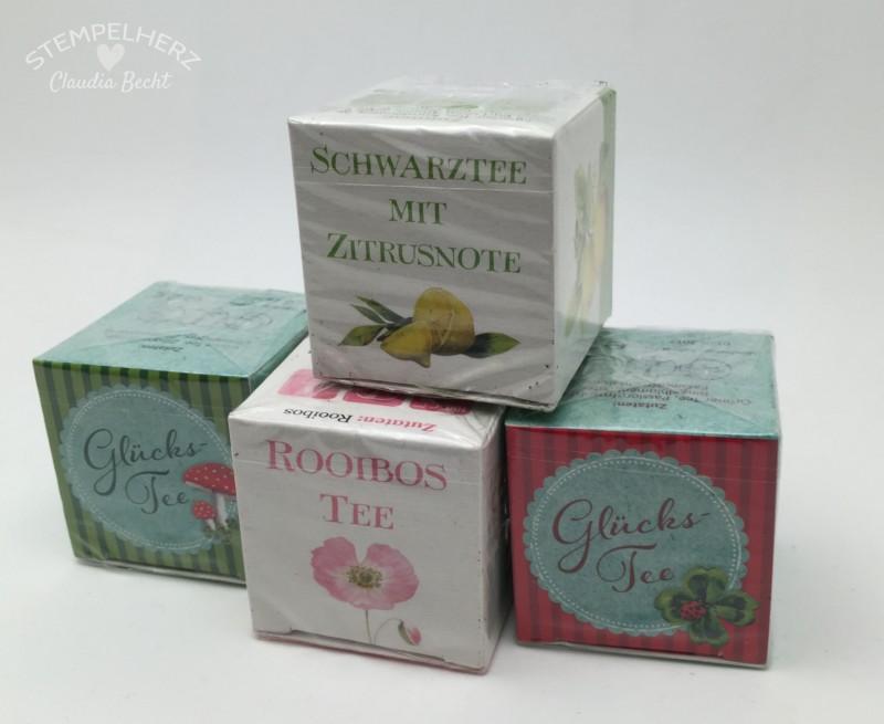 Stampin Up-Stempelherz-Verpackung-Schachtel-Box-Geschenk-Tee-Envelope-Punchboard-Kleines Teegeschenk 09