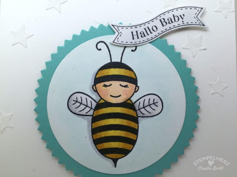 Stampin Up-Stempelherz-Babykarte-Zur Geburt-Karte Hallo Baby 04