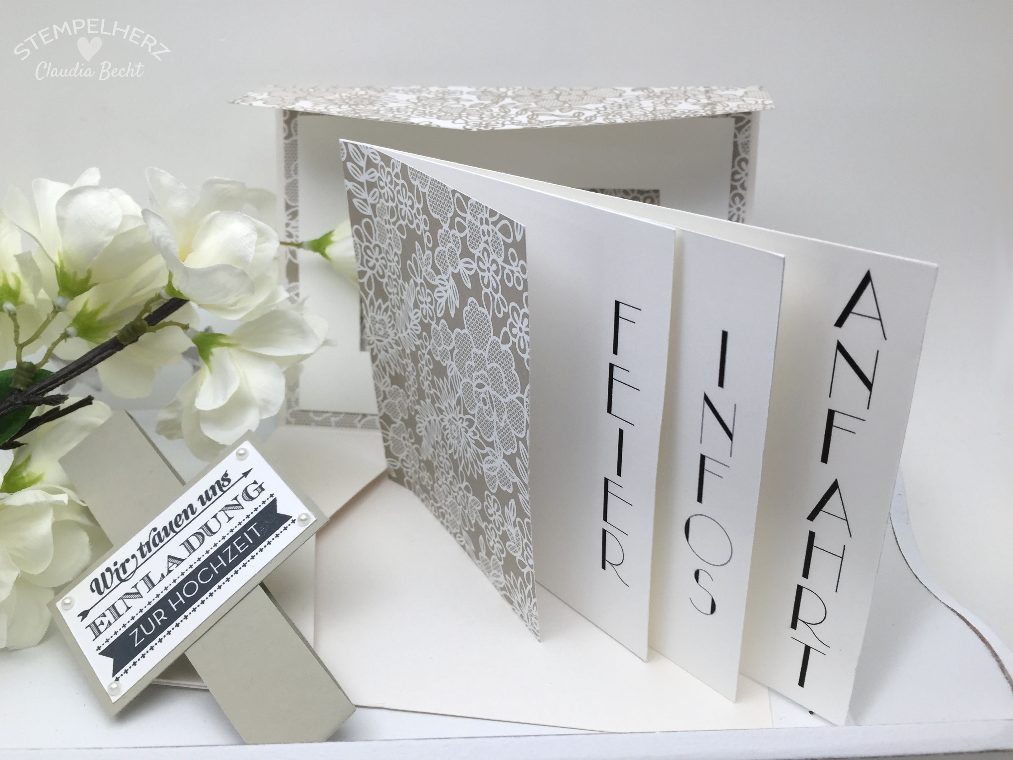 Perfekt Stampin Up Stempelherz Hochzeitseinladung Hochzeitskarte Hochzeit Karte  Einladung Hochzeitseinladung