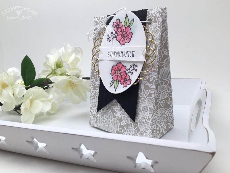 Stampin Up-Stempelherz-Verpackung-Box-Tuete-Kommunion-I Like You-Eins fuer alles-Geschenktuete Zur Kommunion 01