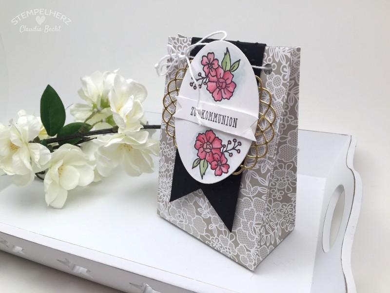 Stampin Up-Stempelherz-Verpackung-Box-Tuete-Kommunion-I Like You-Eins fuer alles-Geschenktuete Zur Kommunion 02