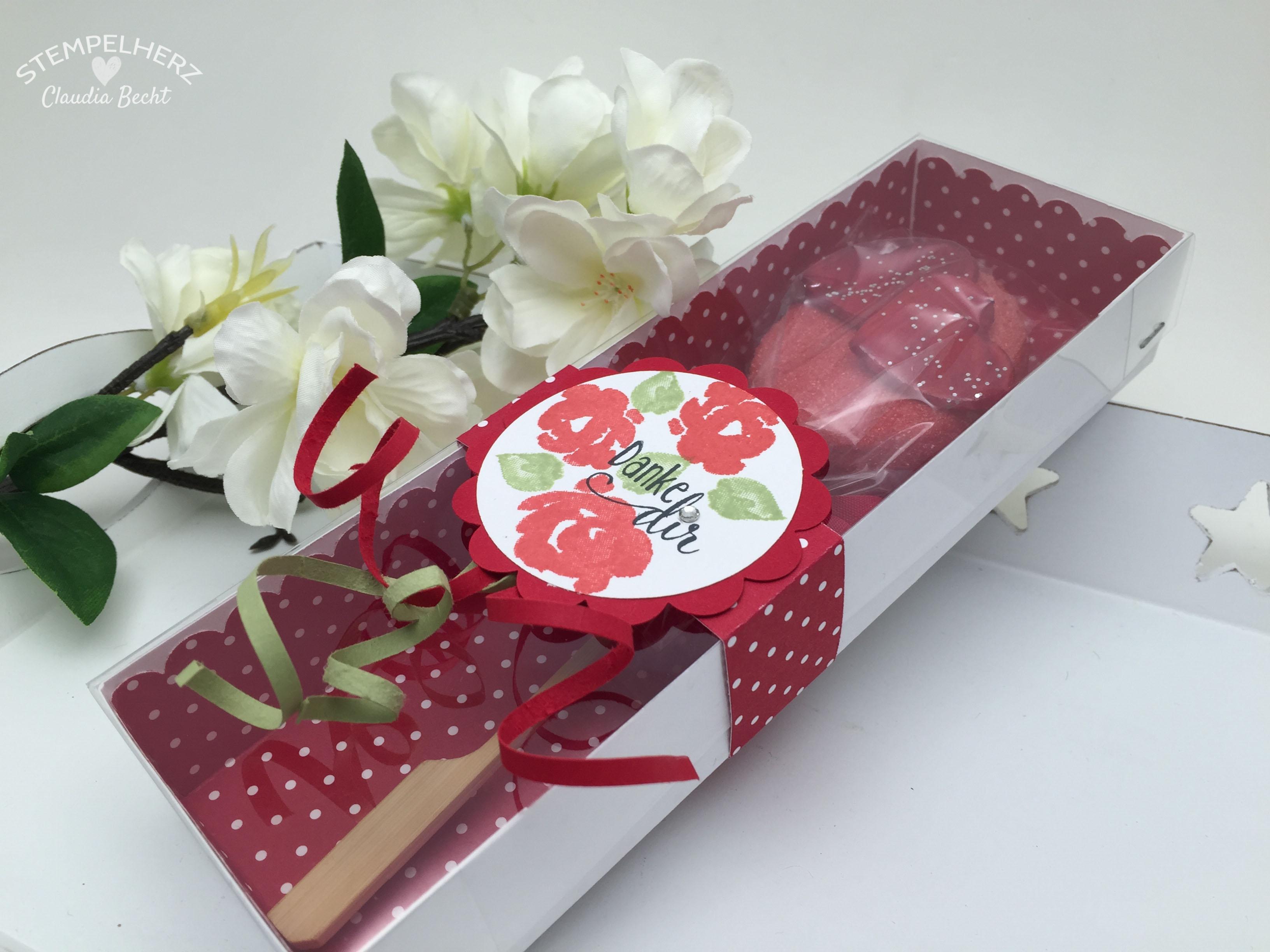 Stampin Up-Stempelherz-Verpackung-Box-Verpackung Cake Pop-Muttertag-Painted Petals-Cake Pop Verpackung Danke Dir zum Muttertag 04