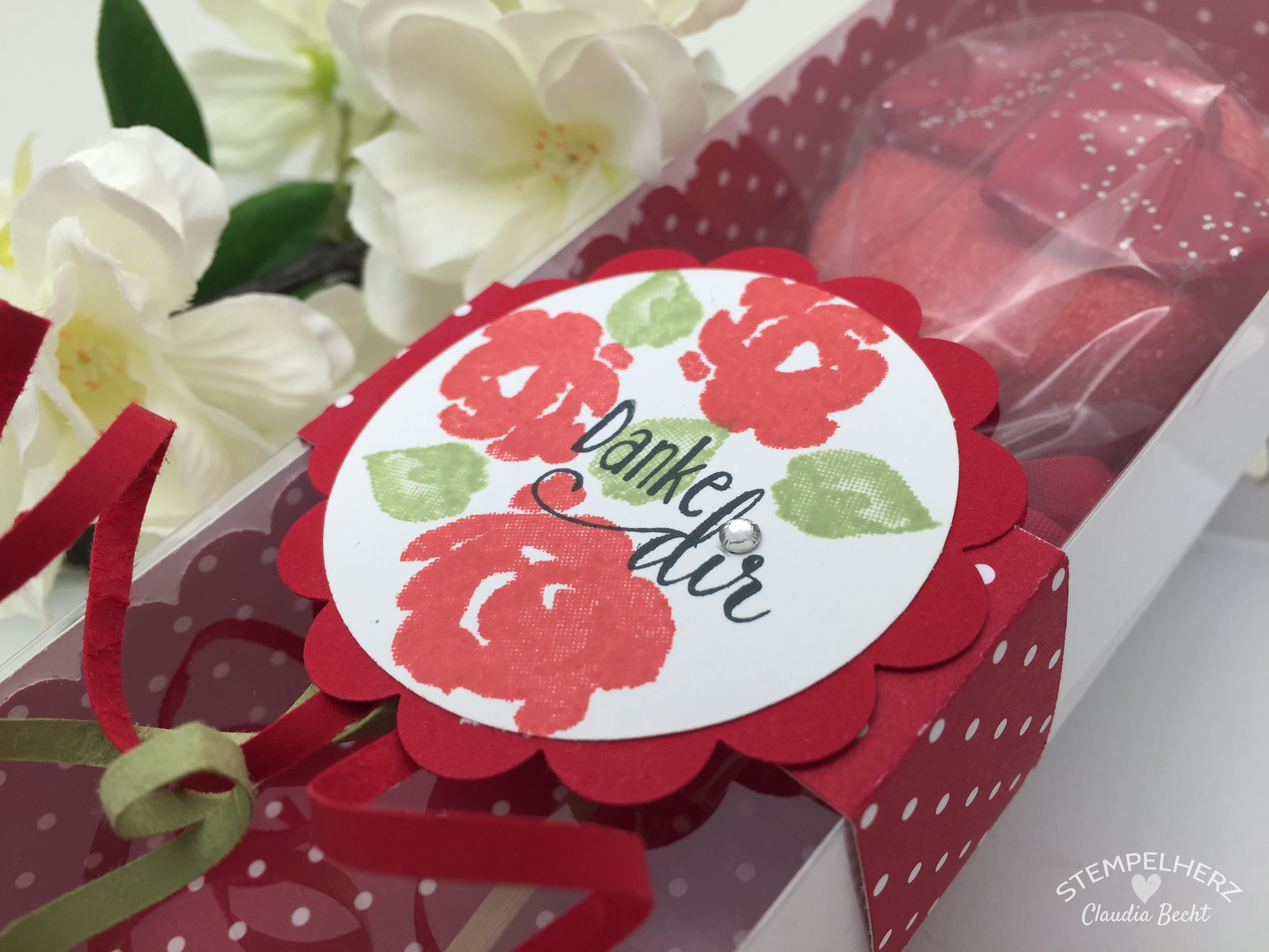 Stampin Up-Stempelherz-Verpackung-Box-Verpackung Cake Pop-Muttertag-Painted Petals-Cake Pop Verpackung Danke Dir zum Muttertag 05