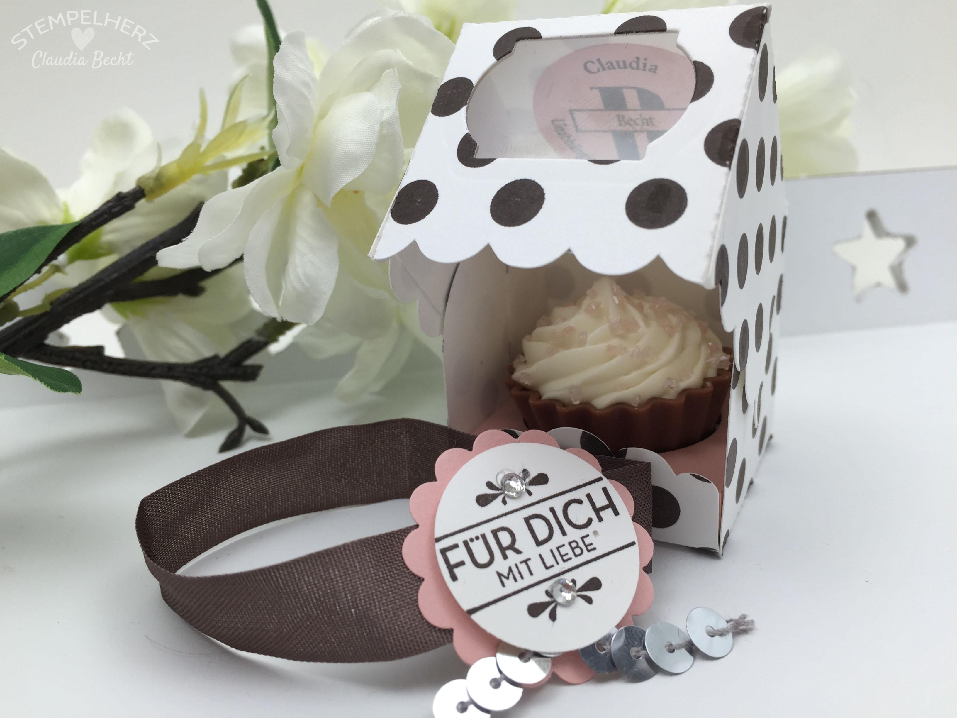 Stampin Up-Stempelherz-Verpackung-Box-Cupcakeverpackung-Cupcake-Hausgemachte Leckerbissen-Pralinenschachtel-Cupcakepralinen-Verpackung 03