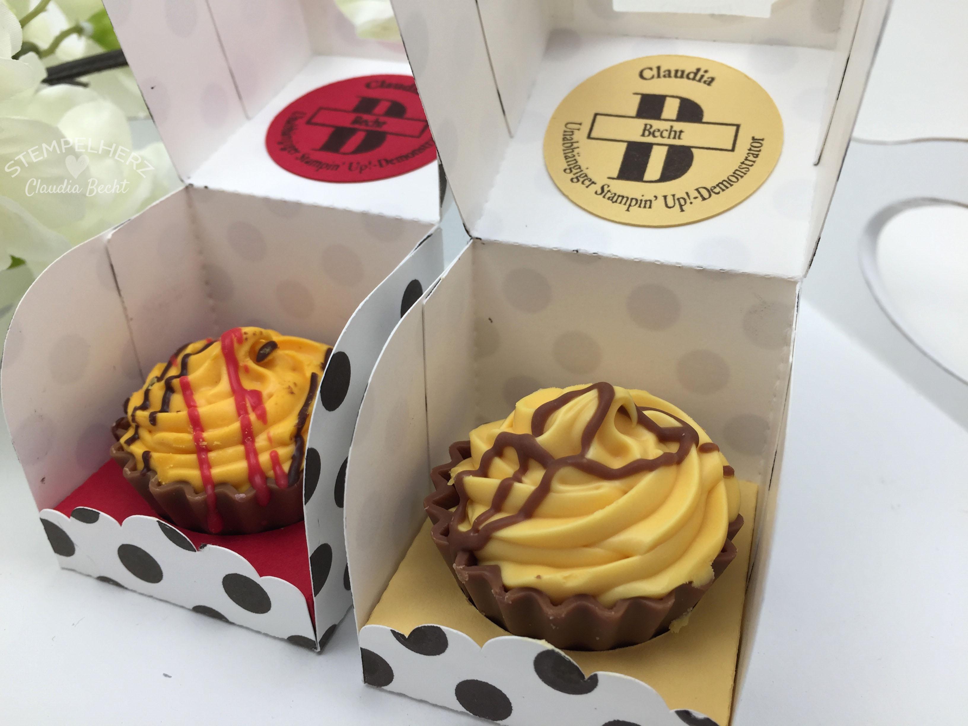 Stampin Up-Stempelherz-Verpackung-Box-Cupcakeverpackung-Cupcake-Hausgemachte Leckerbissen-Pralinenschachtel-Cupcakepralinen-Verpackung 07