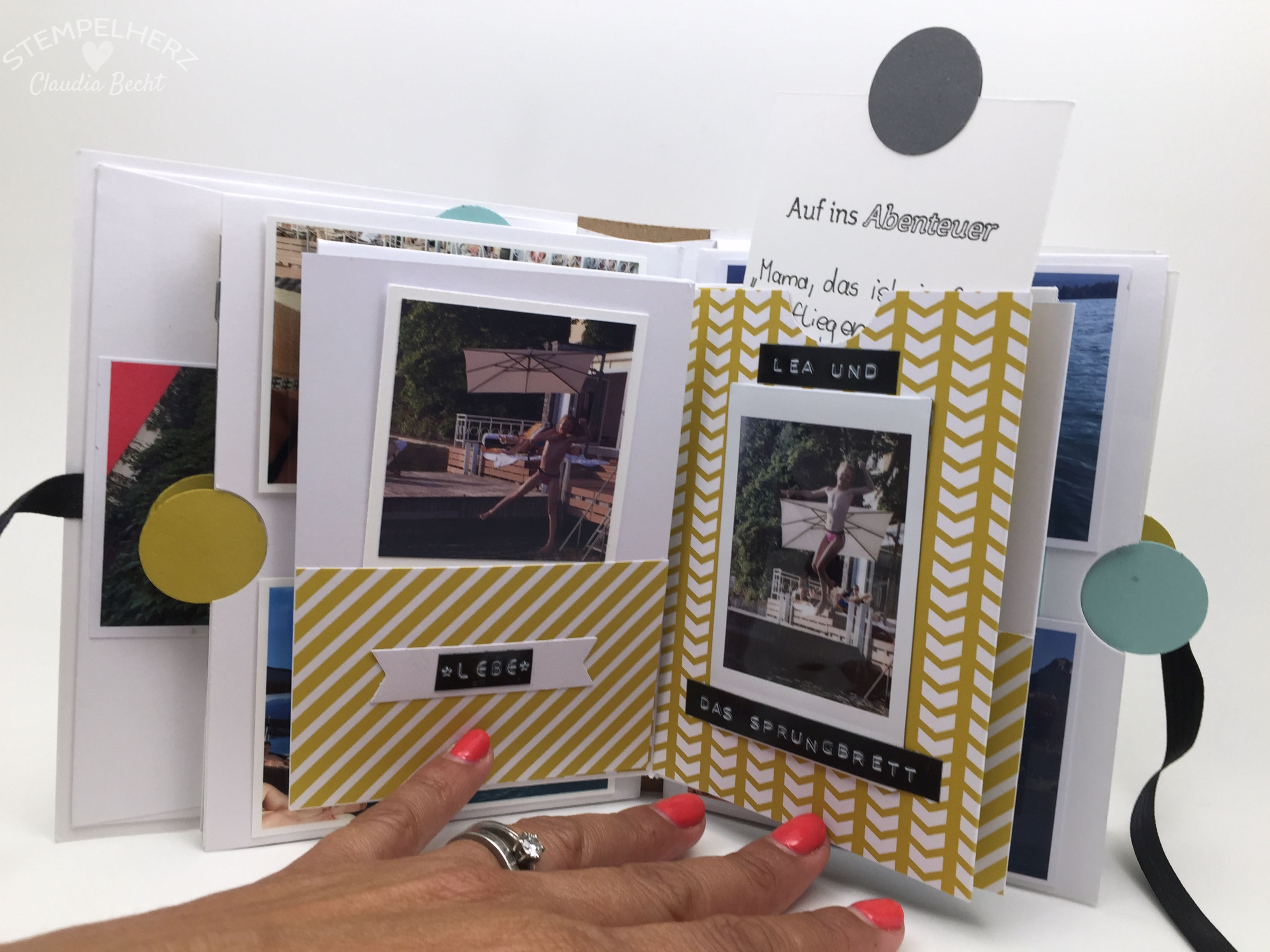 Stampin Up-Stempelherz-Album-Minibook-Minialbum Wolfgangsee 11