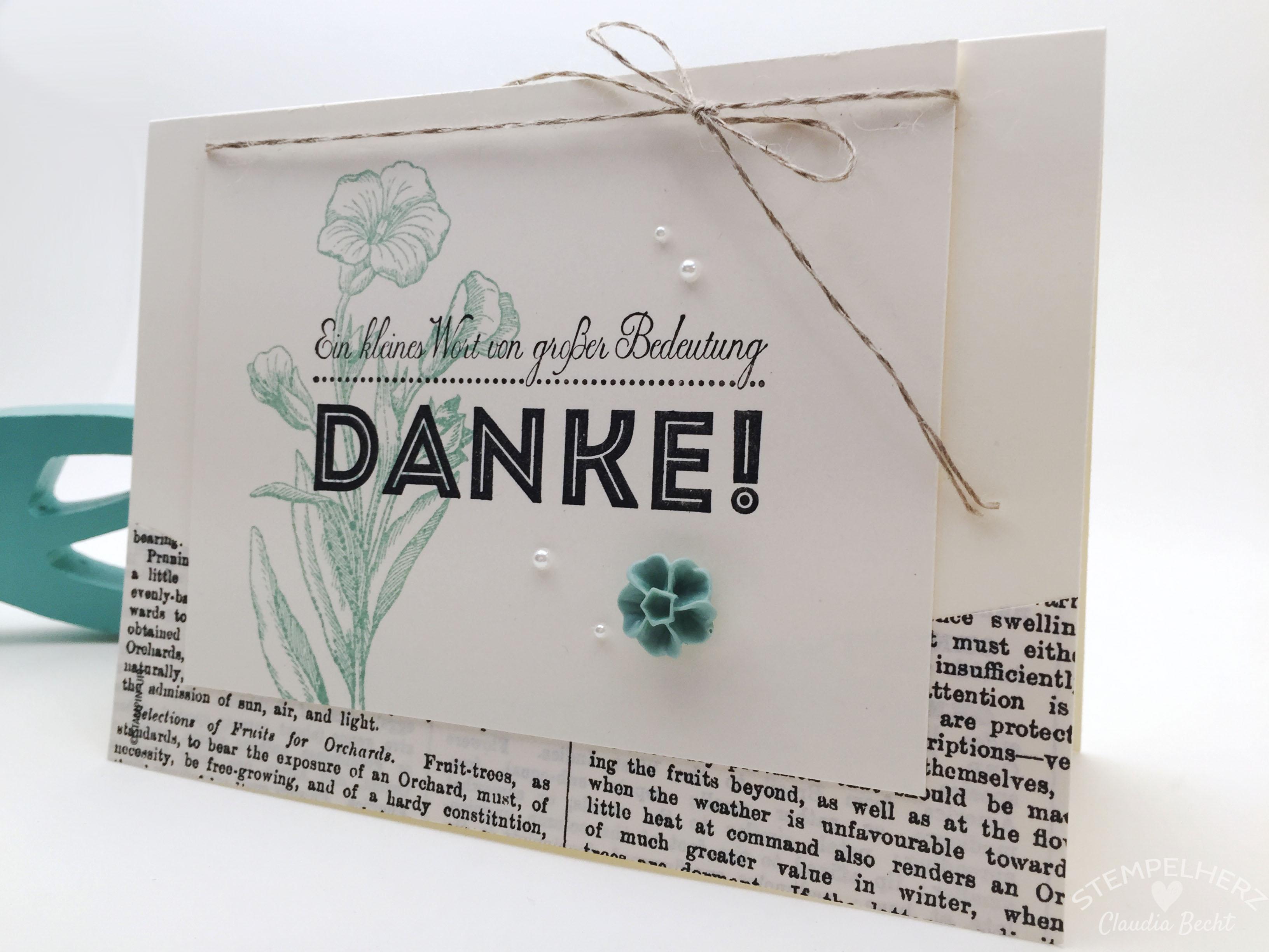 Stampin Up-Stempelherz-Dankeskarte-Von großer Bedeutung-Schmetterlingsgruß-Zeig es am Montag 27.07. Dankeskarte Ein kleines Wort 04b
