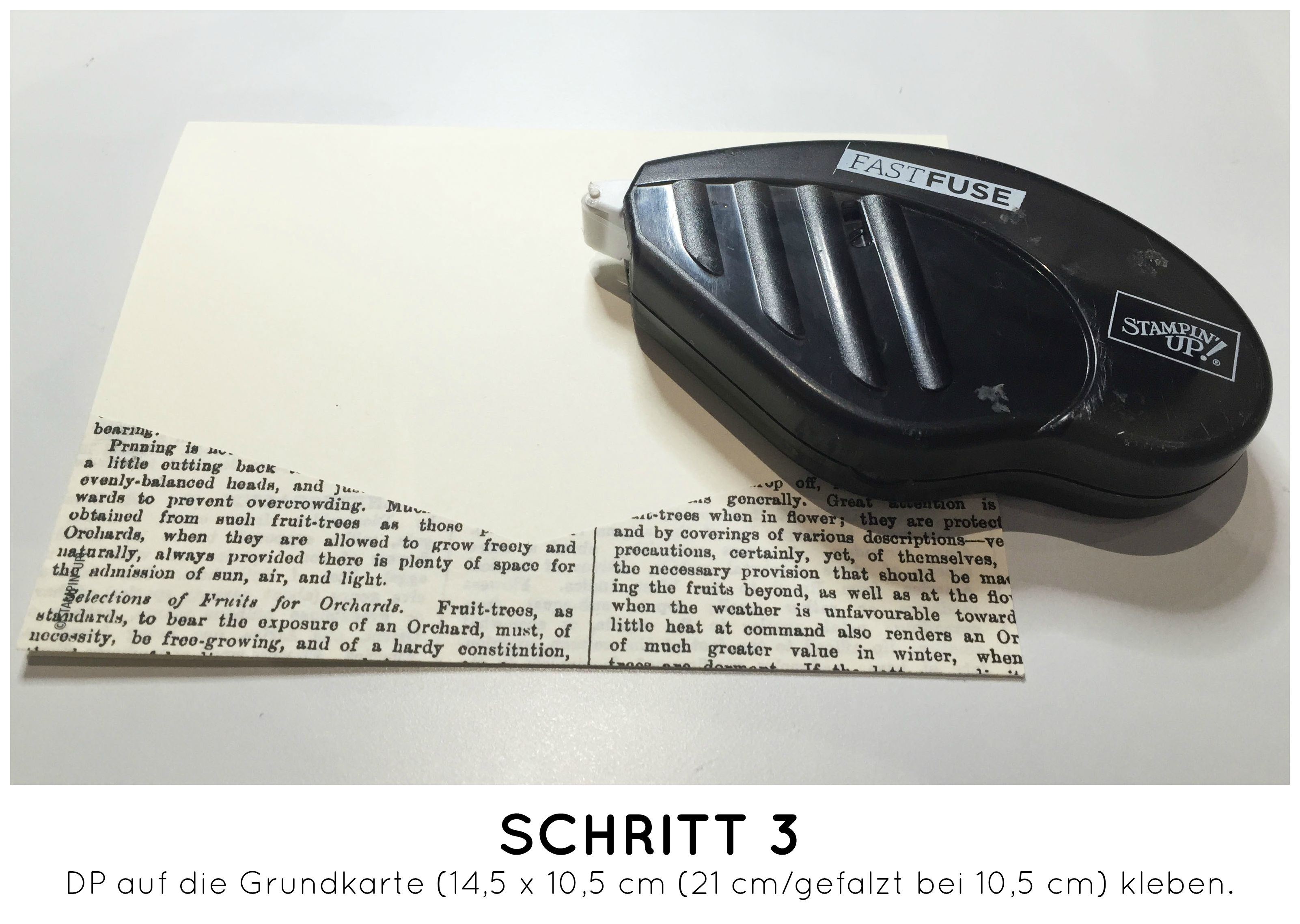 Stampin Up-Stempelherz-Dankeskarte-Zeig es am Montag Karte Danke Anleitung - Schritt 03