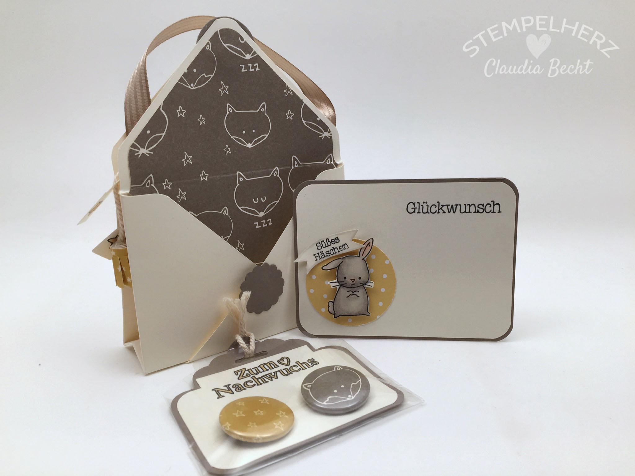 Stampin Up-Stempelherz-Double Pocket Card-Babykarte-Geschenkidee Geburt-Zum Nachwuchs-Double Pocket Card Zum Nachwuchs 03b