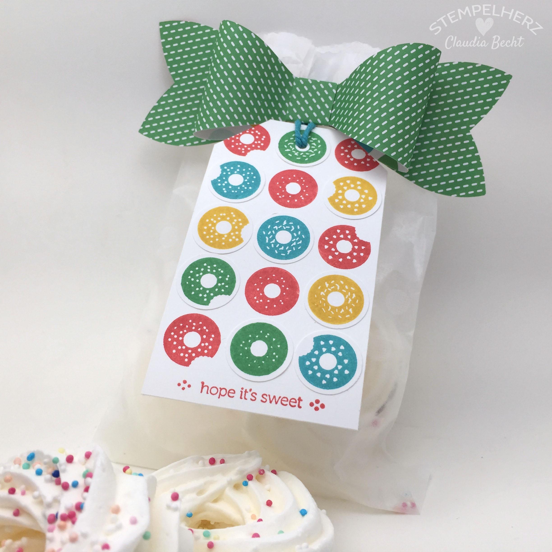 Stampin Up-Stempelherz-Geburtstag-Verpackung-Bag-Geburtstagskarte-Zeig es am Montag Geburtstagsset Sprinkles on Top 19.1b