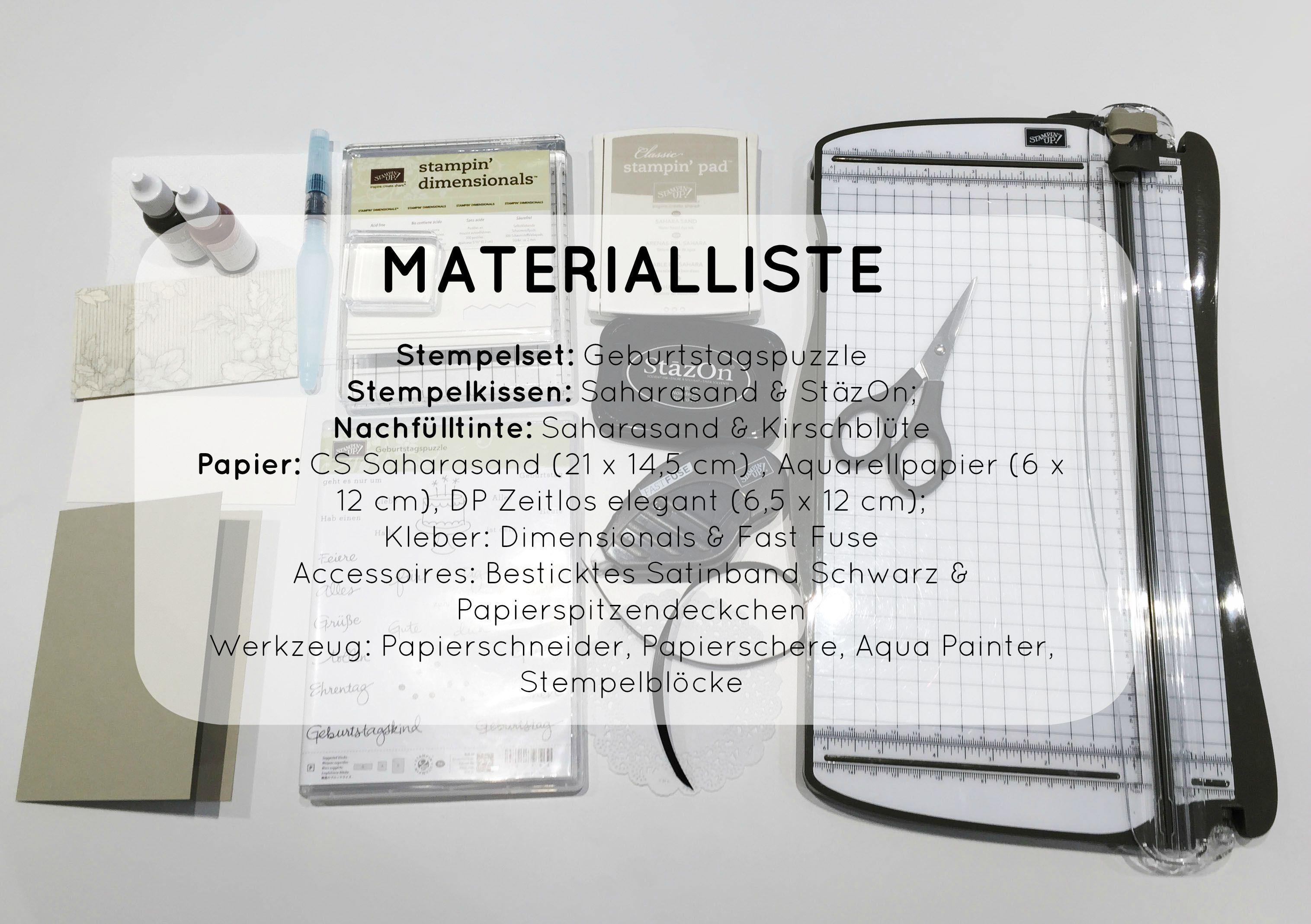 Stampin Up-Stempelherz-Geburtstagskarte-Zeig es am Montag Karte Alles Liebe zum Geburtstag Anleitung - Materialliste