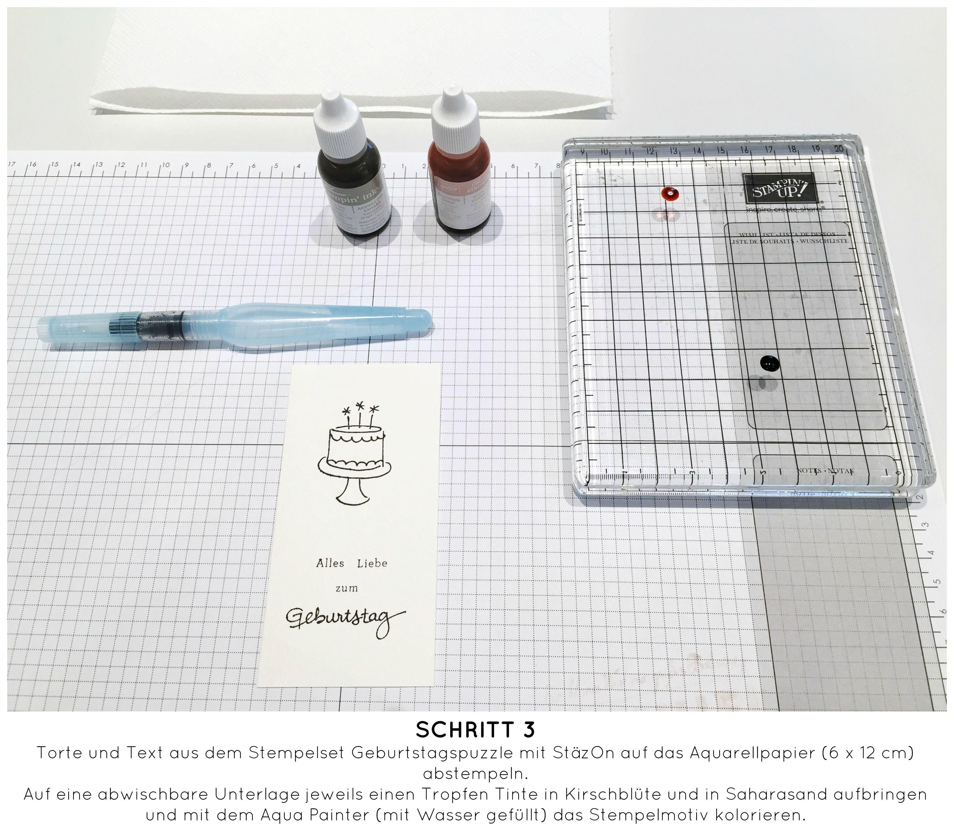 Stampin Up-Stempelherz-Geburtstagskarte-Zeig es am Montag Karte Alles Liebe zum Geburtstag Anleitung - Schritt 03b