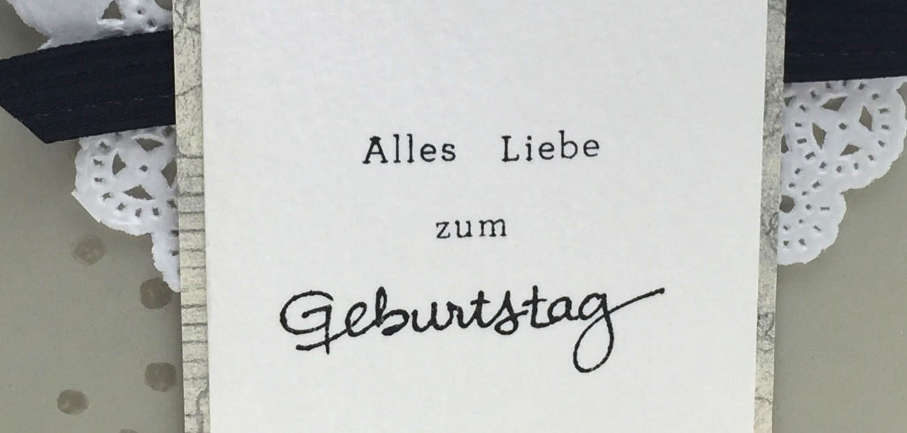 """""""Zeig es"""" am Montag – Geburtstagskarte Alles Liebe"""