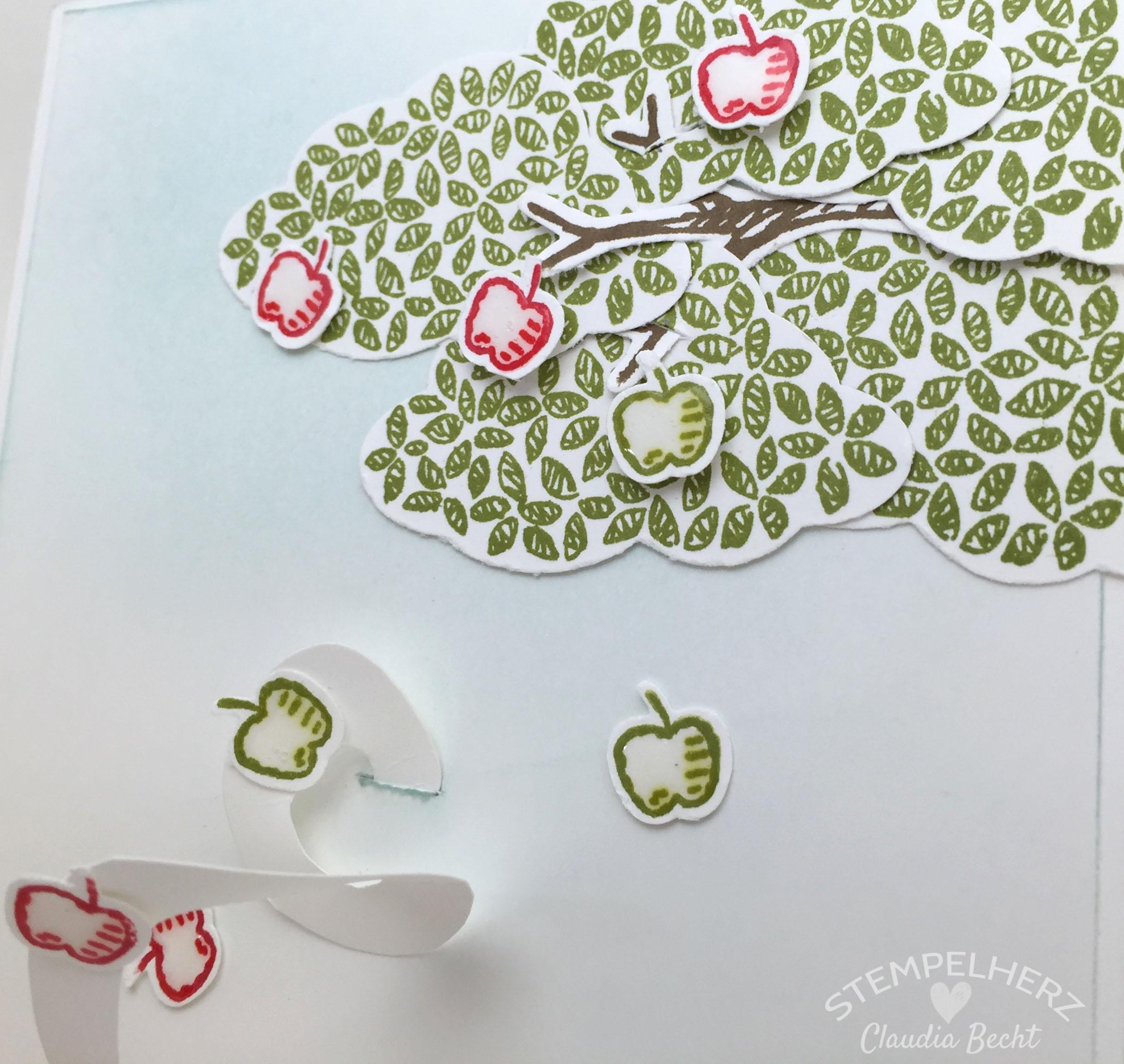 Stampin Up-Stempelherz-Geburtstagskarte-Spiralkarte-Worte die gut tun-Birthday Blossoms-Spiralkarte Apfelbaum 05b