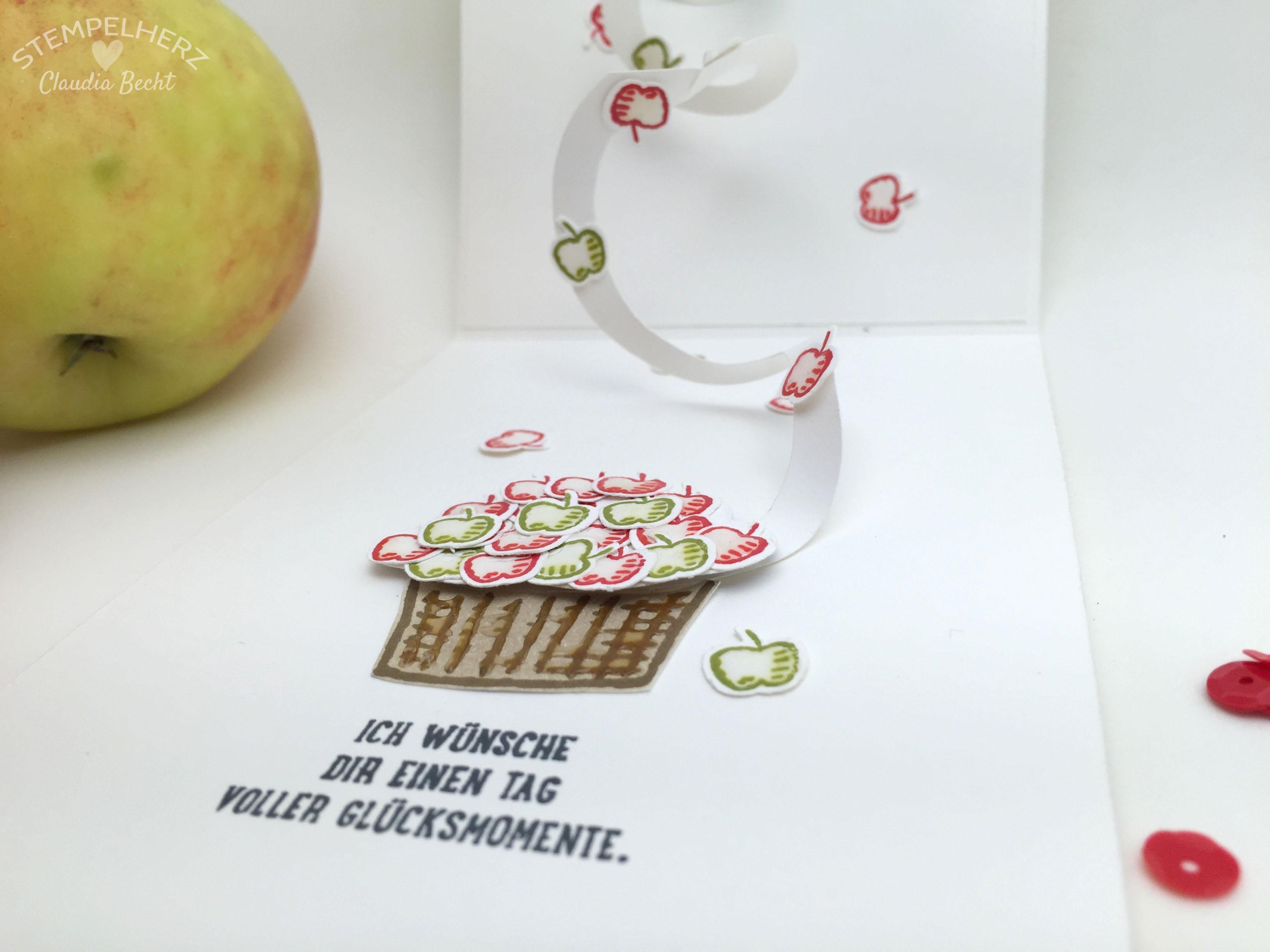 Stampin Up-Stempelherz-Geburtstagskarte-Spiralkarte-Worte die gut tun-Birthday Blossoms-Spiralkarte Apfelbaum 06b