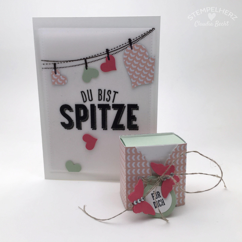 Stampin Up-Stempelherz-Grußkarte-Dankeskarte-Unter Freunden-Karte Du bist spitze 01b