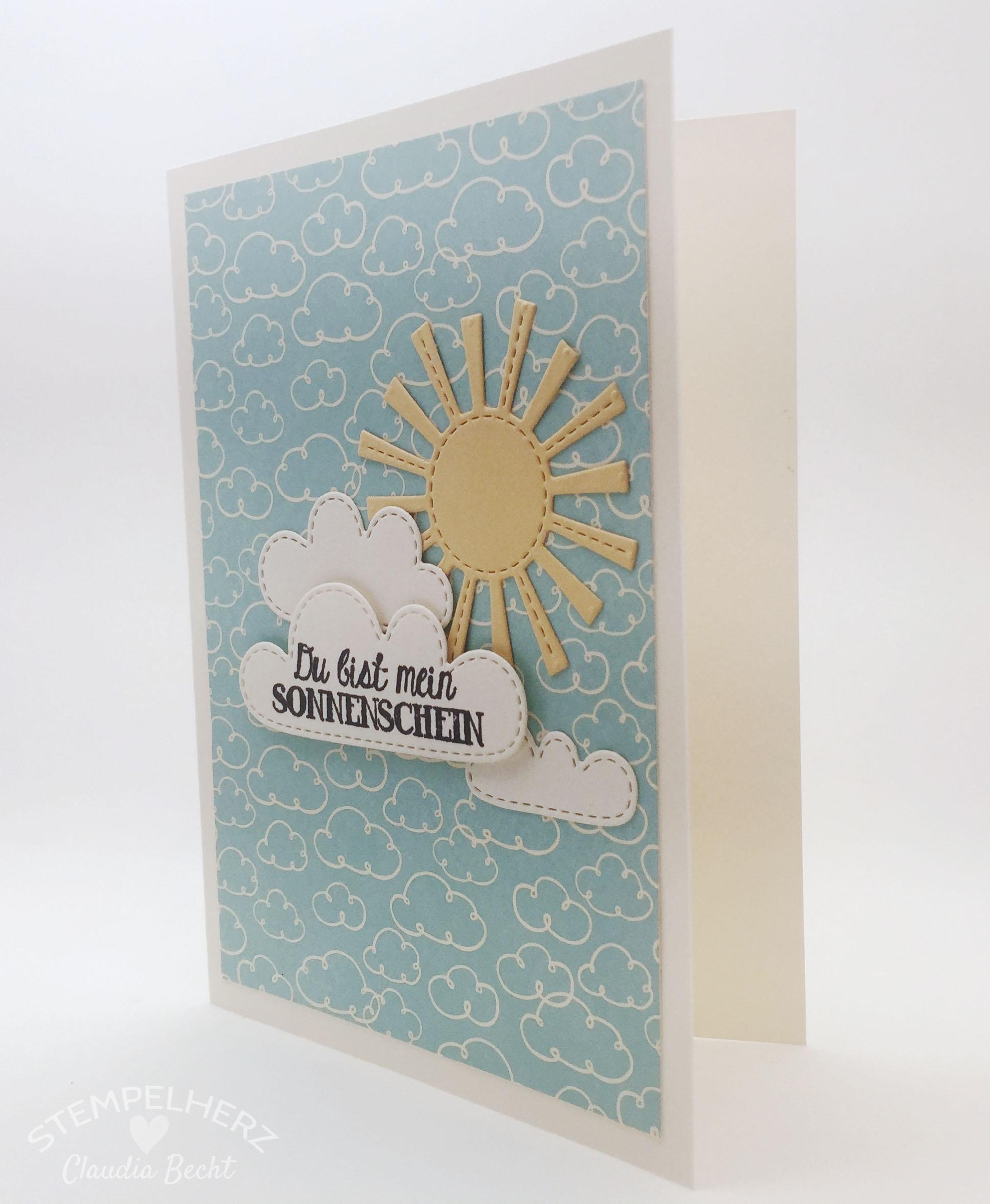 Stampin Up-Stempelherz-Grußkarte-Geburtstagskarte-Hinterm Regenbogen-Karte Du bist mein Sonnenschein 04b