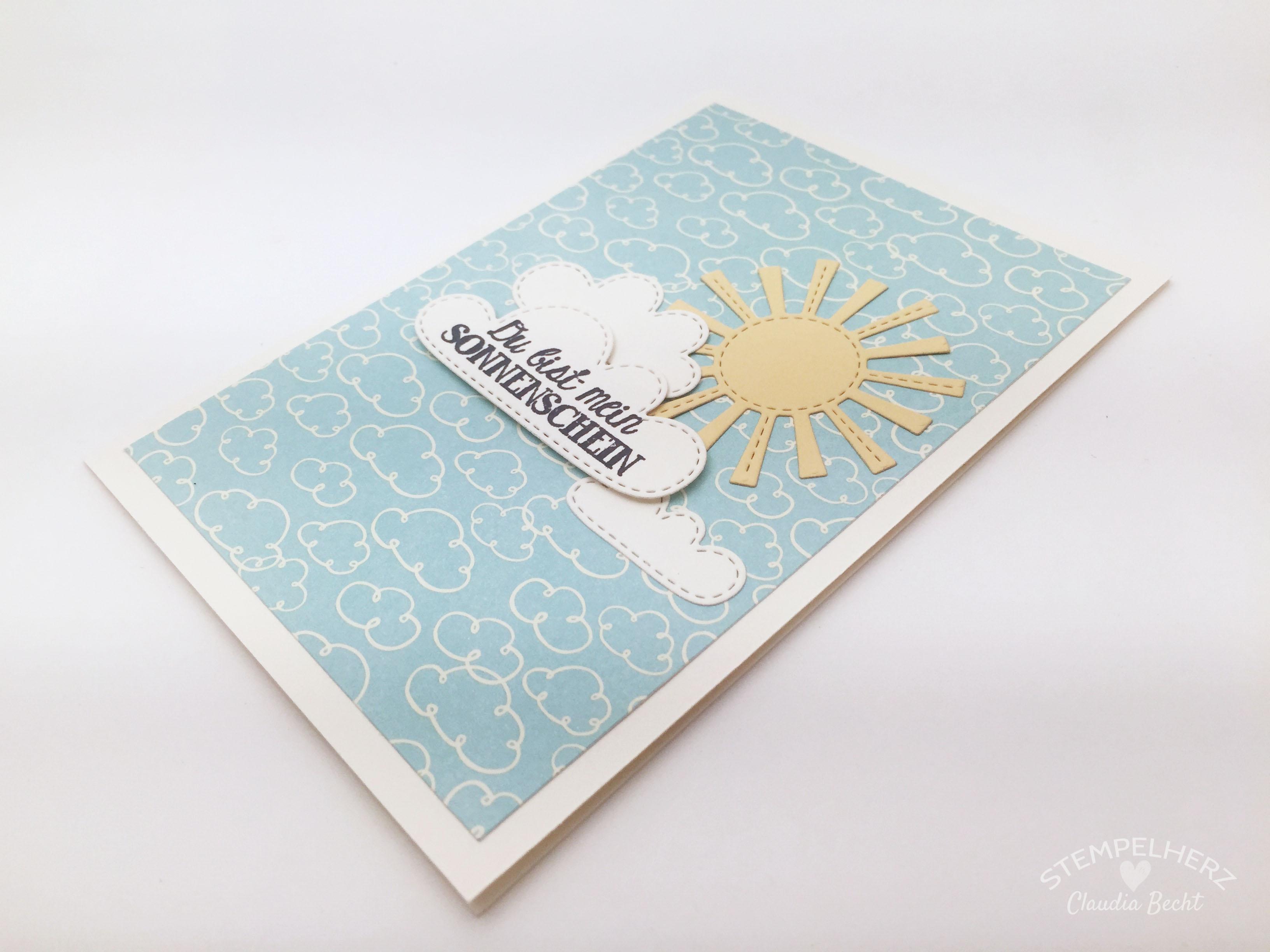 Stampin Up-Stempelherz-Grußkarte-Geburtstagskarte-Hinterm Regenbogen-Karte Du bist mein Sonnenschein 06b