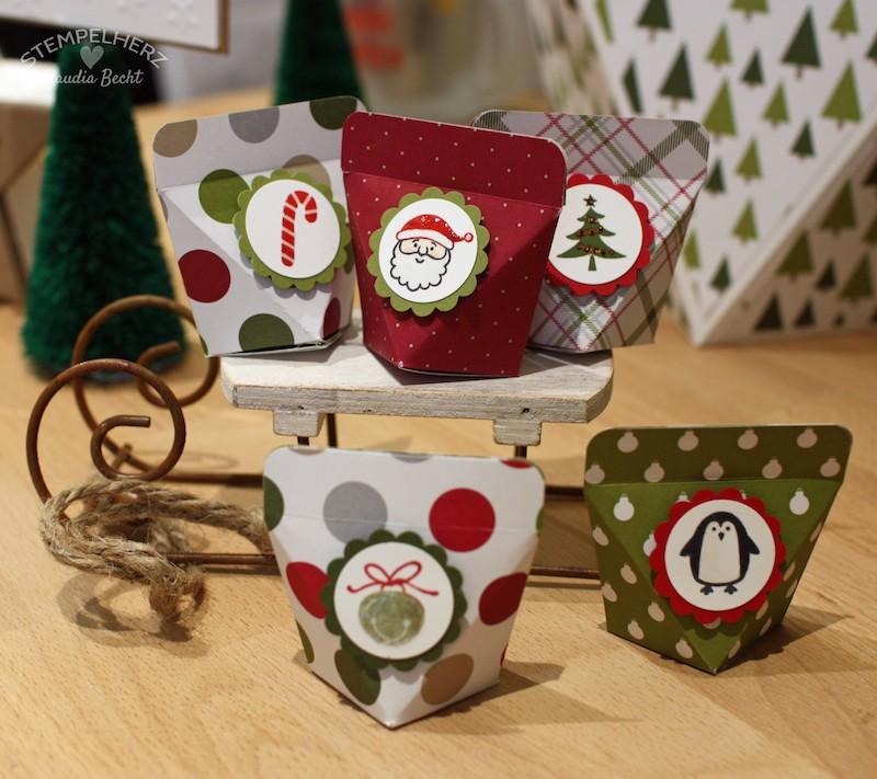 Stampin Up - Stempelherz - Selbstschließende Box - Weihnachten - Verpackung - Box - Selbstschließende Weihnachtsbox mini 01