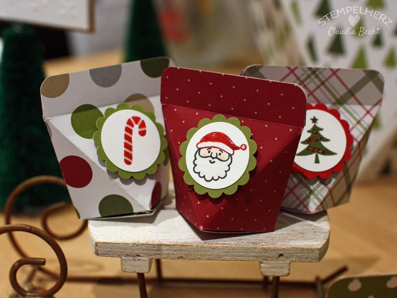 Stampin Up - Stempelherz - Selbstschließende Box - Weihnachten - Verpackung - Box - Selbstschließende Weihnachtsbox mini 02