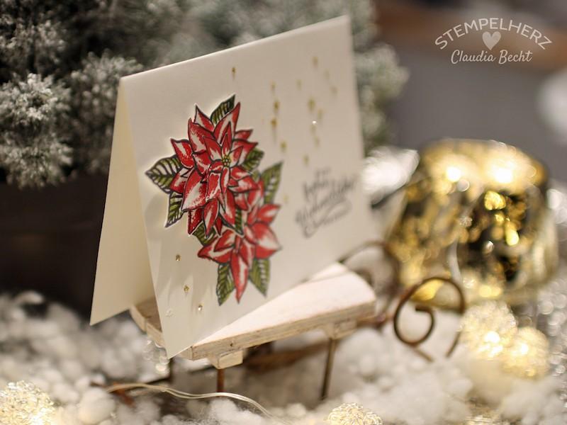 Stampin Up-Stempelherz-Weihnachtskarte-Weihnachtsstern-Stempelset Weihnachtswunder-Weihnachtskarte Weihnachtsstern 03