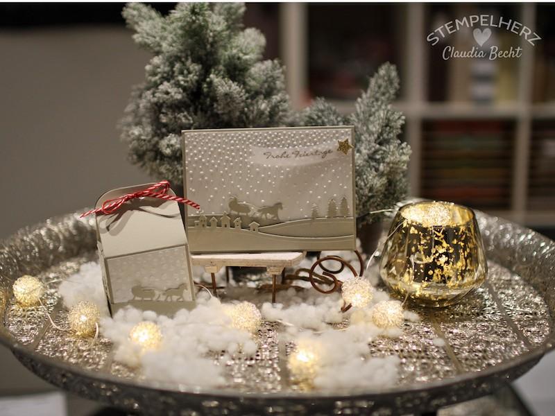 Stampin Up-Stempelherz-Weihnachtskarte-Weihnachtsverpackung-Edgelits Schlittenfahrt-Karte und Verpackung Schlittenfahrt 01