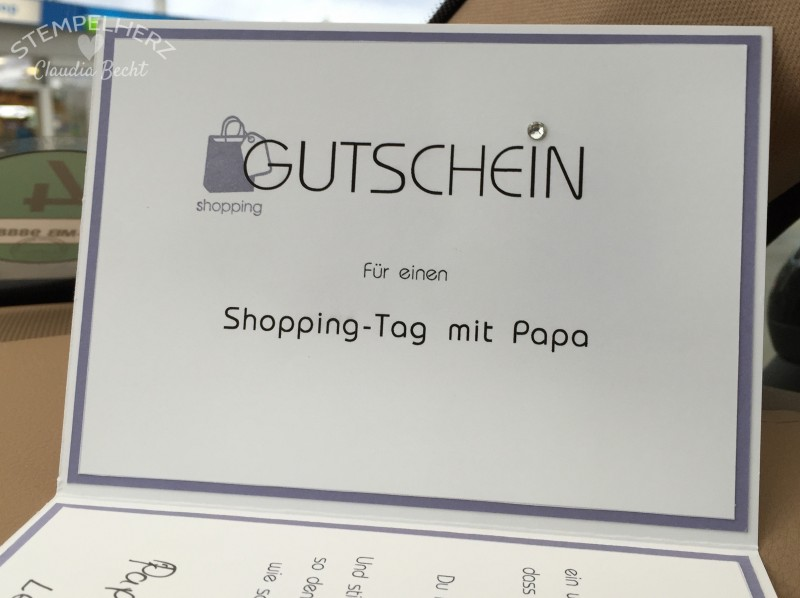 Stampin Up - Stempelherz - Geburtstagskarte - Gutschein - Stempelset In This Together - Shopping-Gutscheinkarte 03