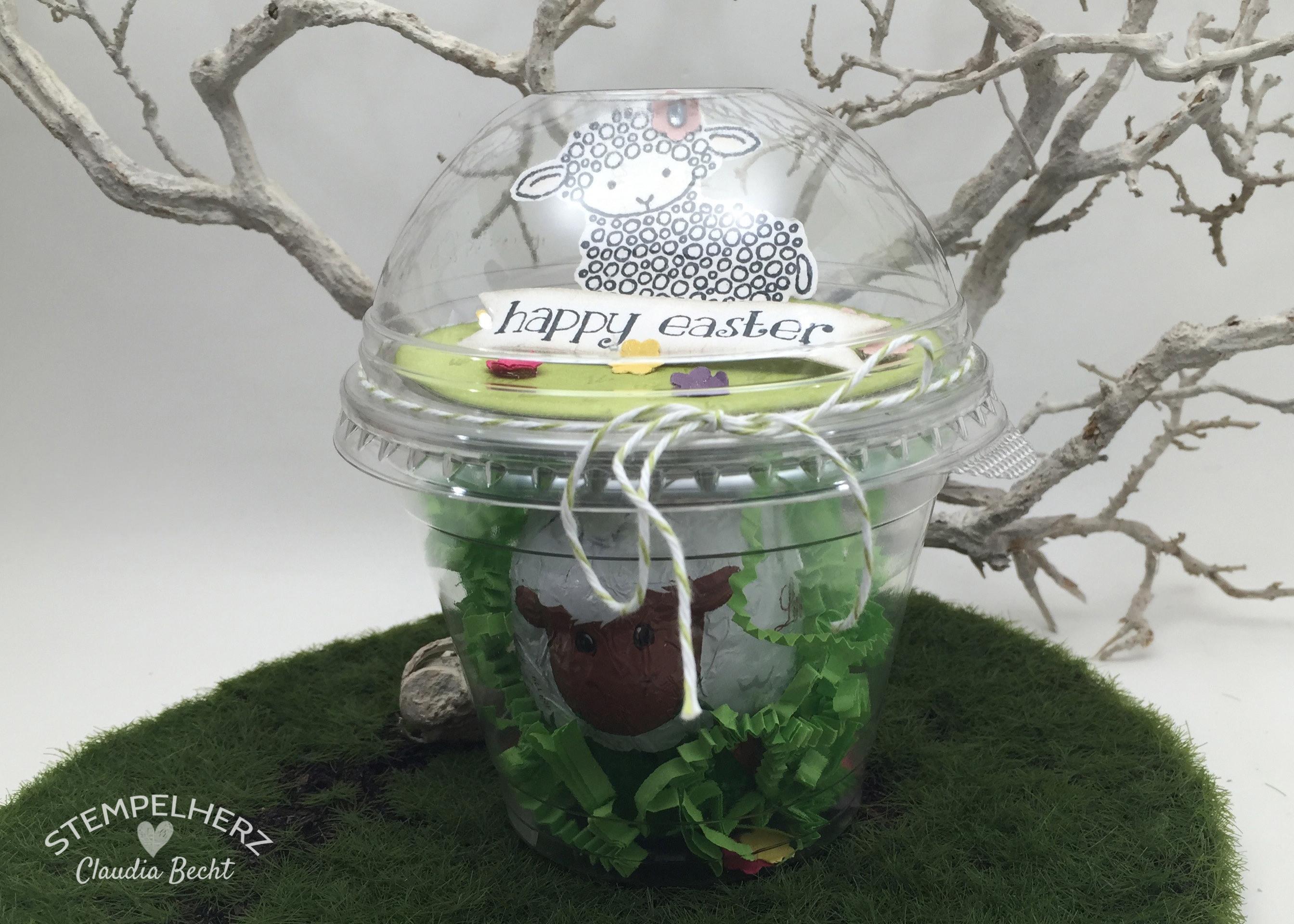 Stempelherz - Stampin Up - Verpackung - Dombecher - Ostern - Easter Lamb - Ein Osterlamm im Dombecher 02