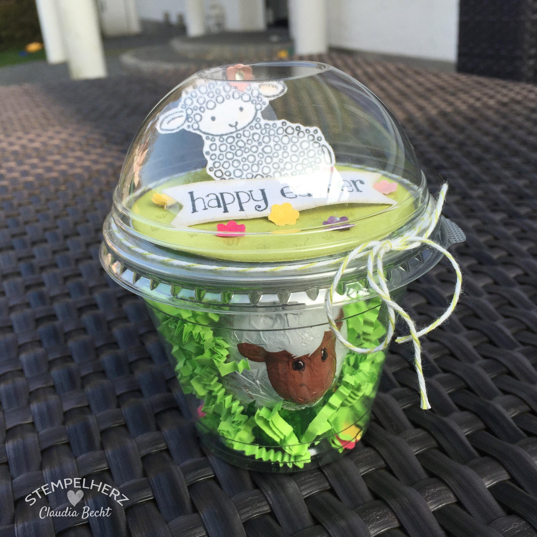 Stempelherz - Stampin Up - Verpackung - Dombecher - Ostern - Easter Lamb - Ein Osterlamm im Dombecher 05