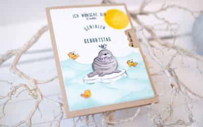 Geburtstagsdrehkarte Walrus