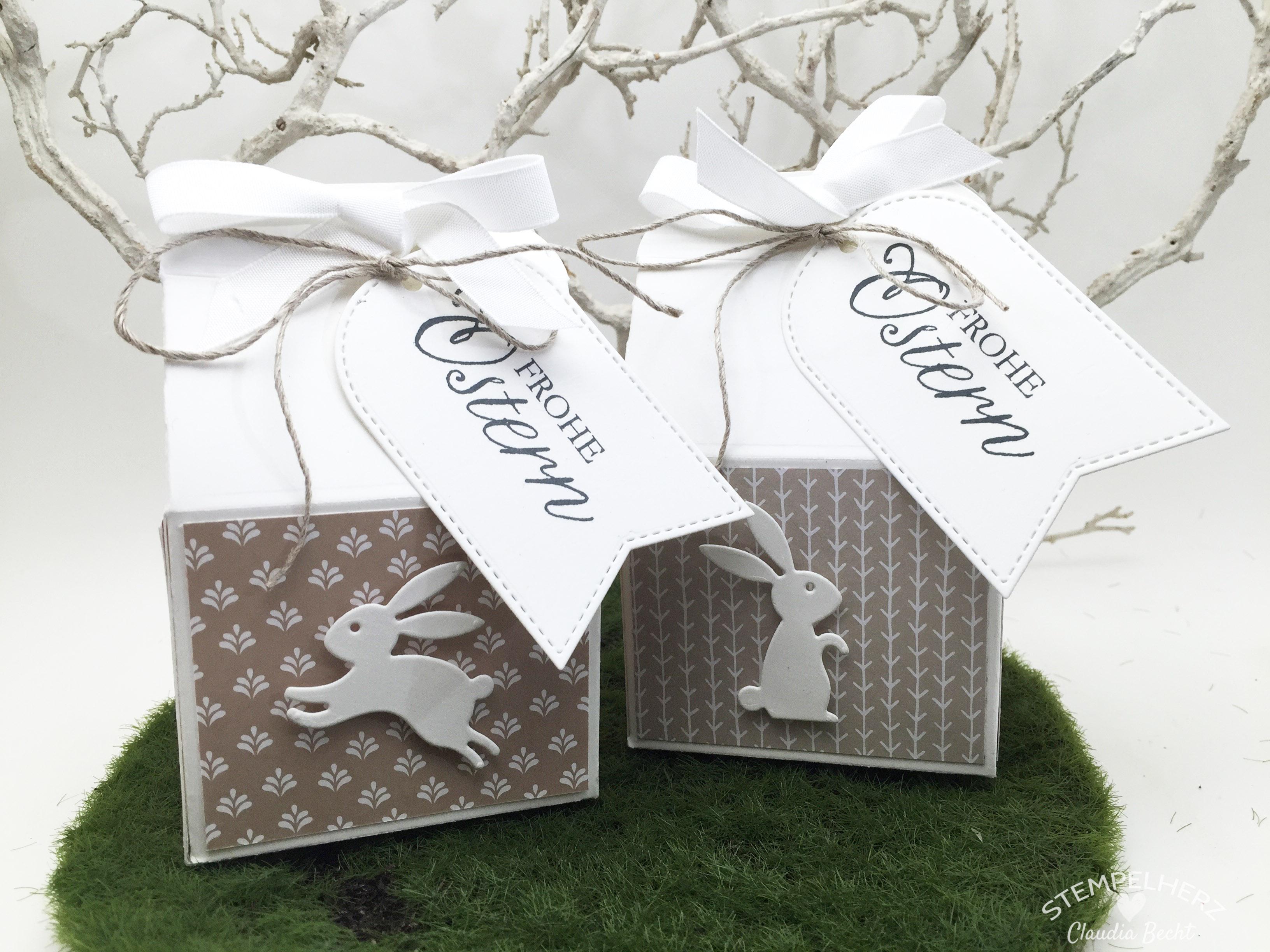Stampin Up - Stempelherz - Ostern - Verpackung - Thinlits Leckereien-Box - Osterhasenmilchkarton 01