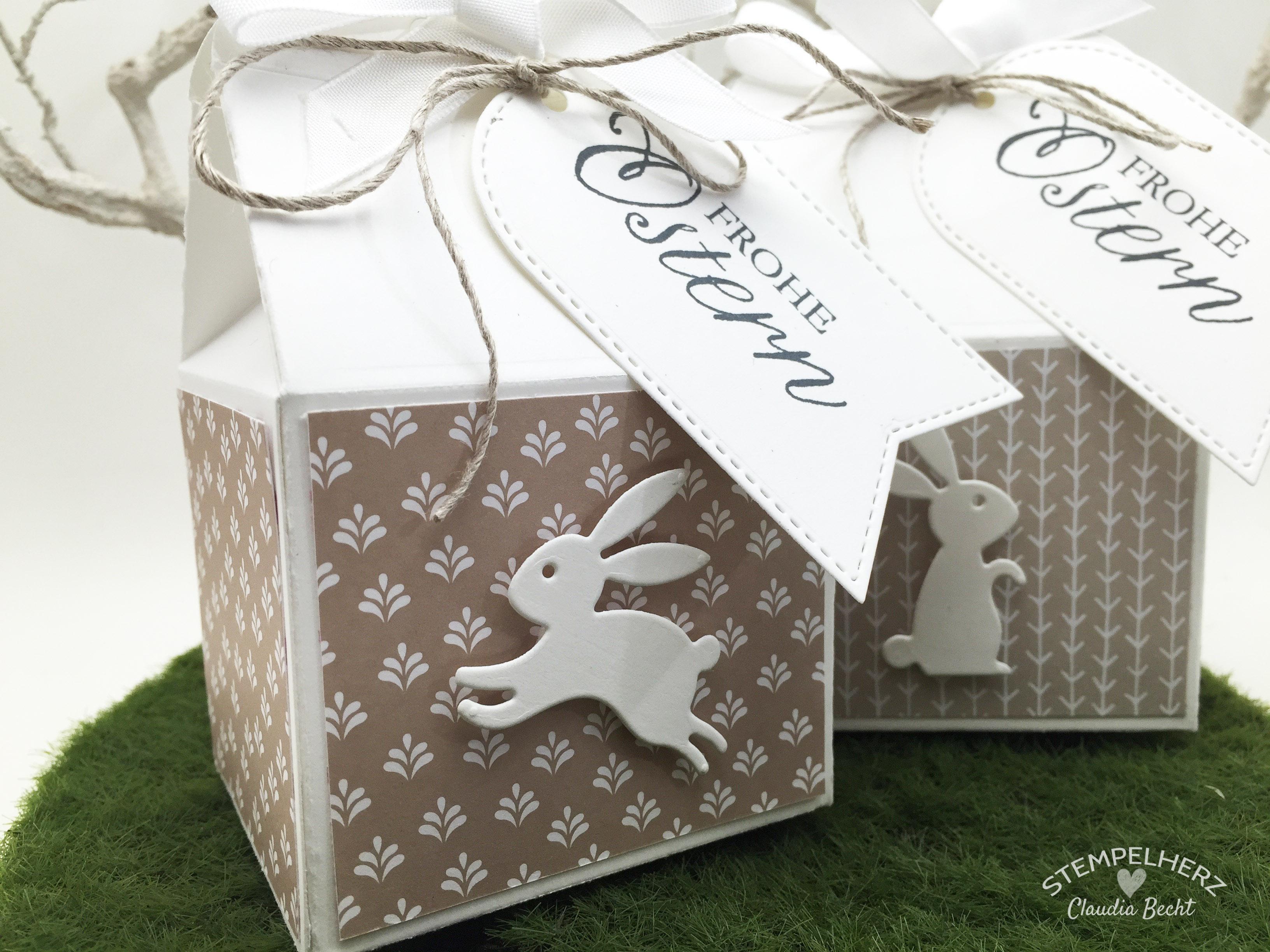Stampin Up - Stempelherz - Ostern - Verpackung - Thinlits Leckereien-Box - Osterhasenmilchkarton 02