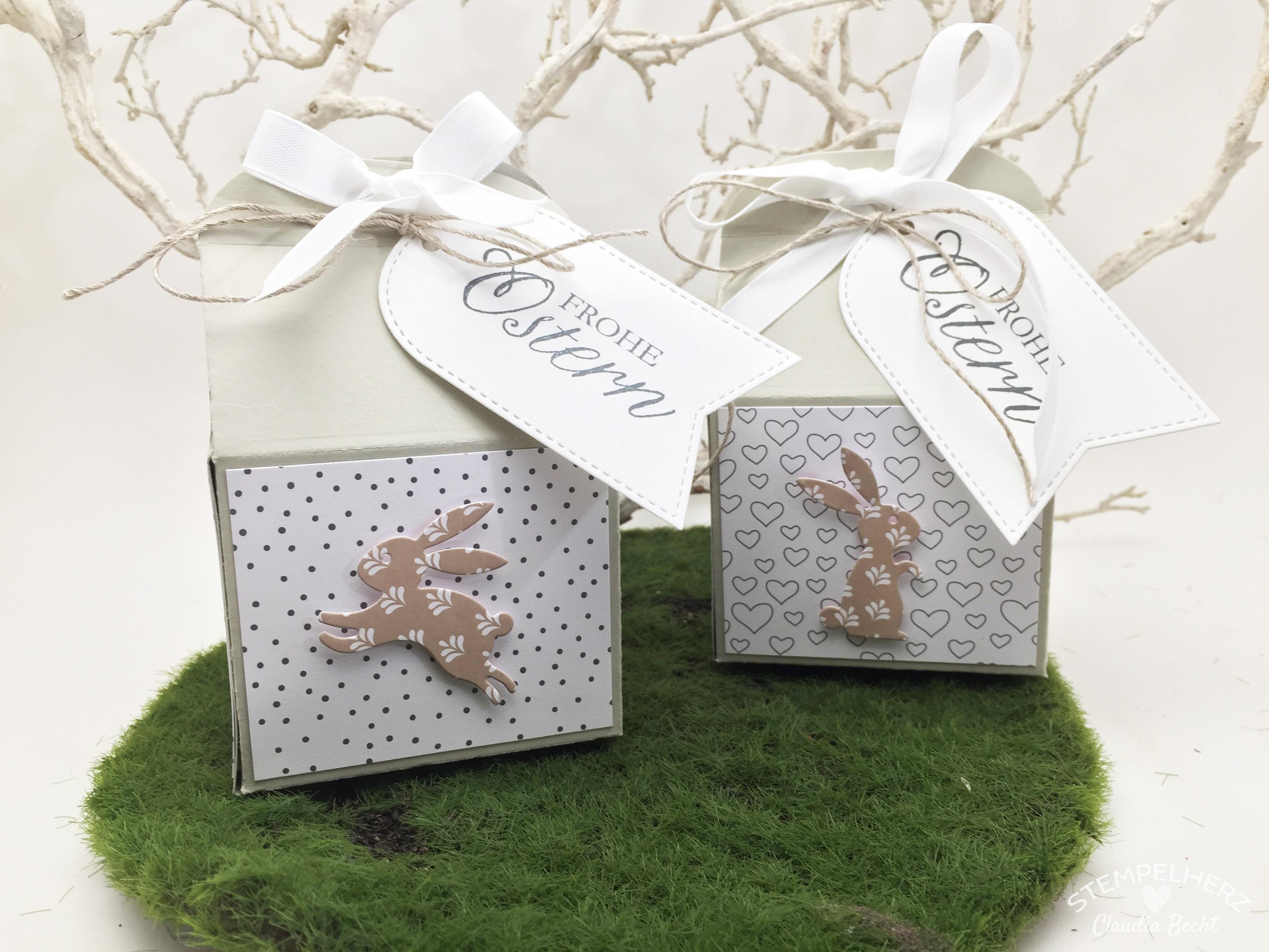 Stampin Up - Stempelherz - Ostern - Verpackung - Thinlits Leckereien-Box - Osterhasenmilchkarton 03