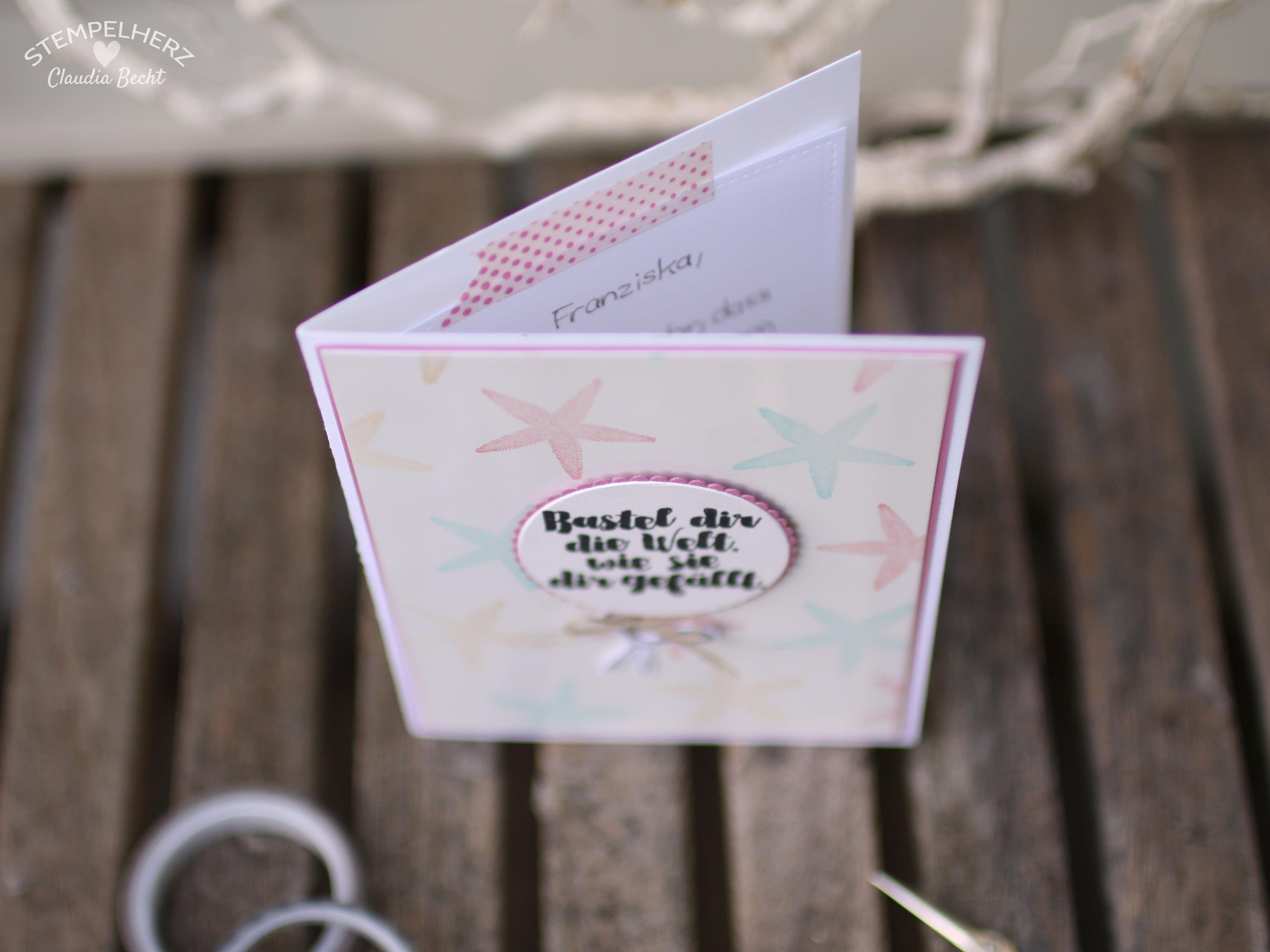 Stampin Up - Stempelherz - Grußkarte - Stempelset Aus der Kreativkiste - Team-Willkommenskarte 04