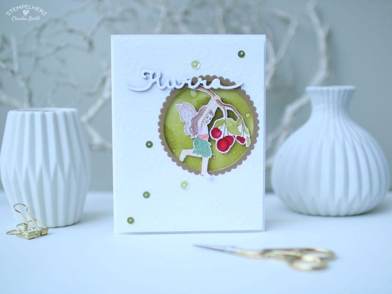 Stampin Up - Stempelherz - Geburtstagskarte - Stempelset Einfach zauberhaft - Geburtstagskarte Hurra 01