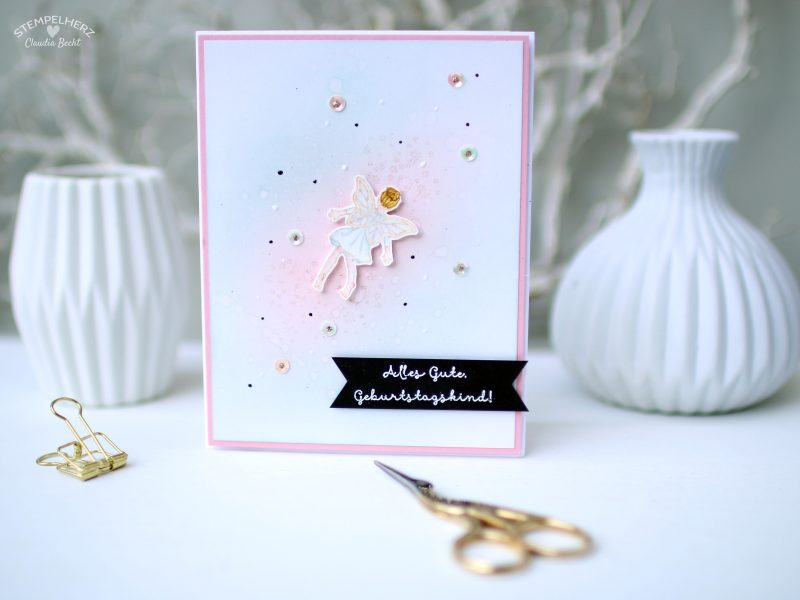 Stampin Up - Stempelherz - Geburtstagskarte - Stempelset Einfach zauberhaft - zauberhafte Geburtstagskarte 01