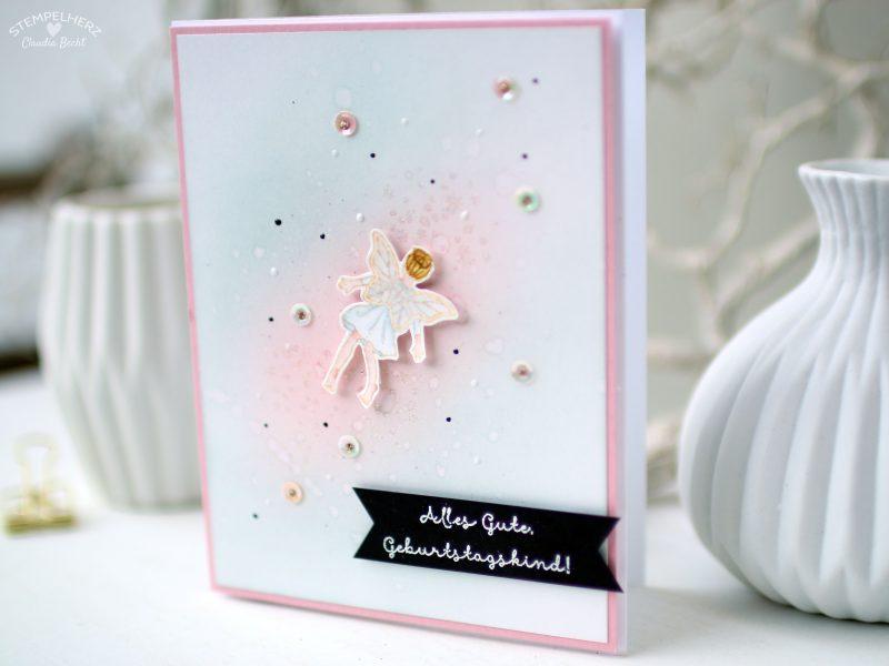 Stampin Up - Stempelherz - Geburtstagskarte - Stempelset Einfach zauberhaft - zauberhafte Geburtstagskarte 02