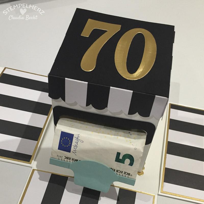 Stampin Up Stempelherz Explosion Box Geburtstag Geldgeschenk