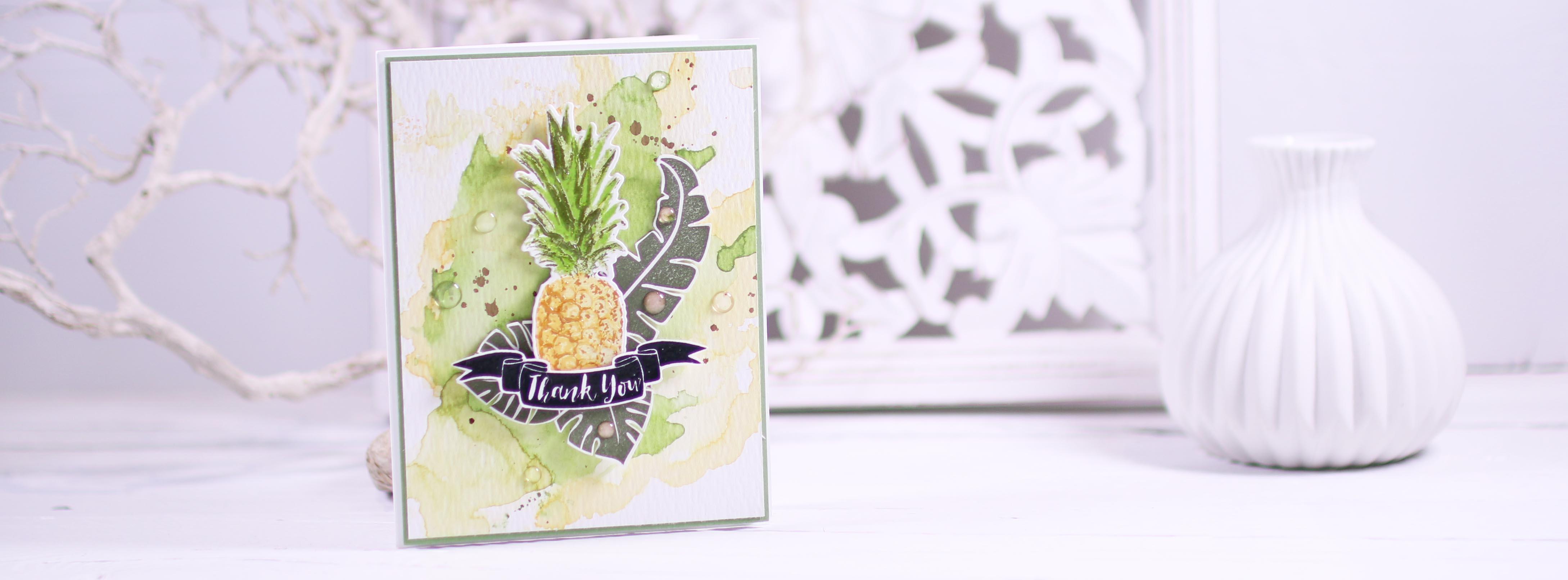 Dankeskarte mit Ananas