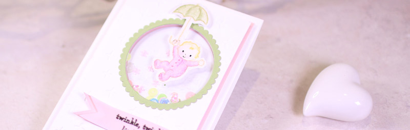 Team-Blog Hop Stempelherz – Babykarte Twinkle Twinkle