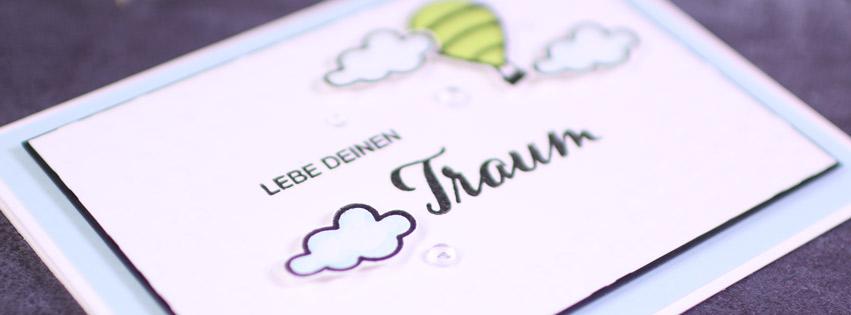 Karte Lebe Deinen Traum