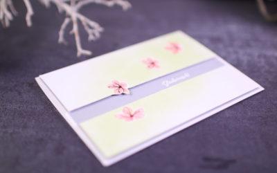 Fallende Blüten mit Stempelset Jahr voller Farben