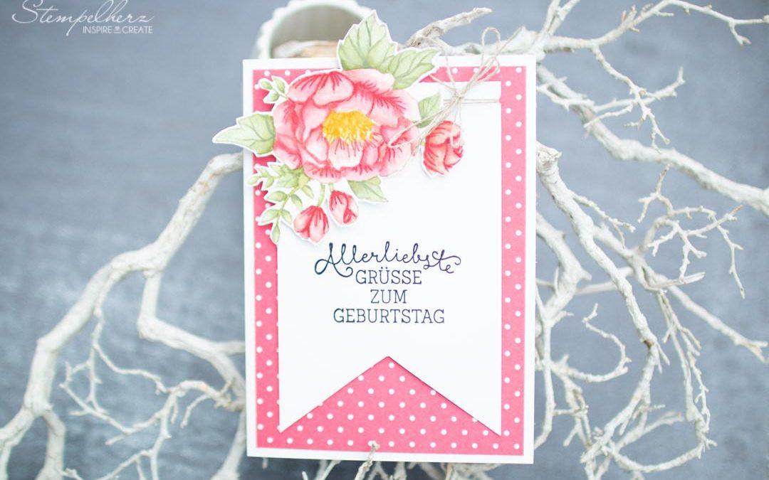 Geburtstagskarte mit Rose