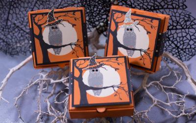 Gruselige Halloween-Mini-Pizzaschachteln