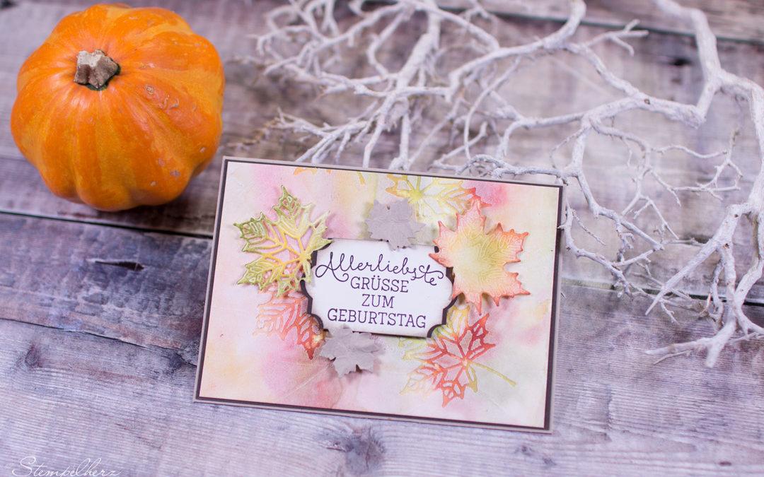 Geburtstagskarte Herbstlaub