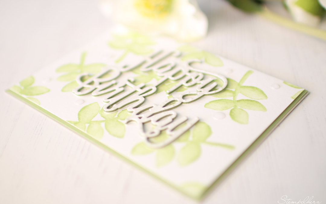Geburtstagskarte Happy Birthday Aquarell