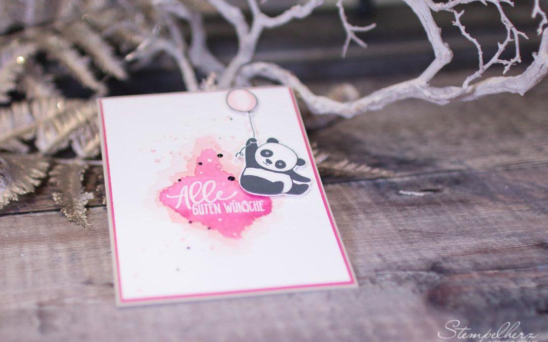 Karte Alles Gute vom Panda