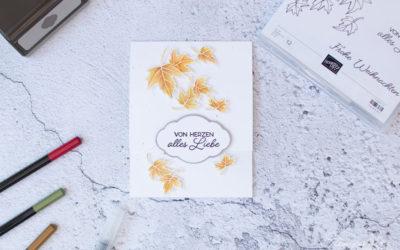Gutscheinkarte Herbstlaub