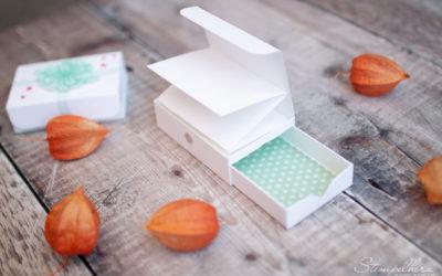 Anleitung Grundverpackung #3 – Leporellobox mit Schubfach
